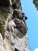 Rock Climbing Photo: Greg takes a well-deserved rest midway through the...