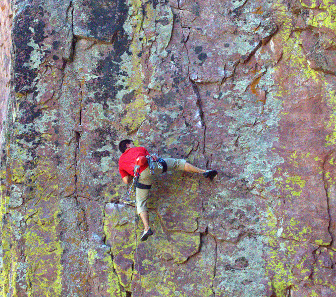 Rock Climbing Photo: Tim H on the crux
