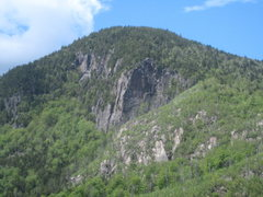 Rock Climbing Photo: Moss Cliff as seen from the High Falls Crag