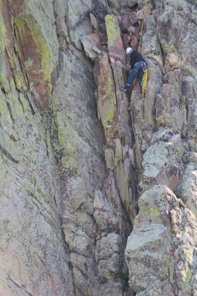 "Rock Climbing Photo: People that ""chicken out"" on P4 of Rewri..."