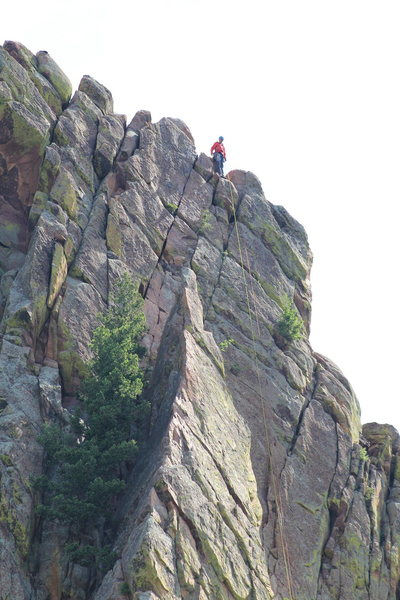 Rock Climbing Photo: Topping out after a successful mission...