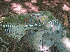 Rock Climbing Photo: at Fork Run - gear for rocks
