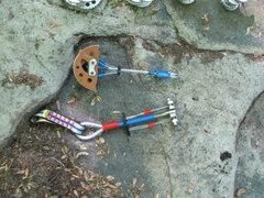 Rock Climbing Photo: at Fork Run, gear for rocks