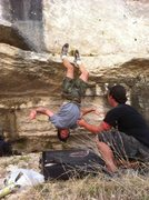 Rock Climbing Photo: goofing around