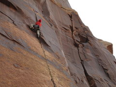 Rock Climbing Photo: the onley crux of the  route.
