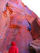 Rock Climbing Photo: summer on lead