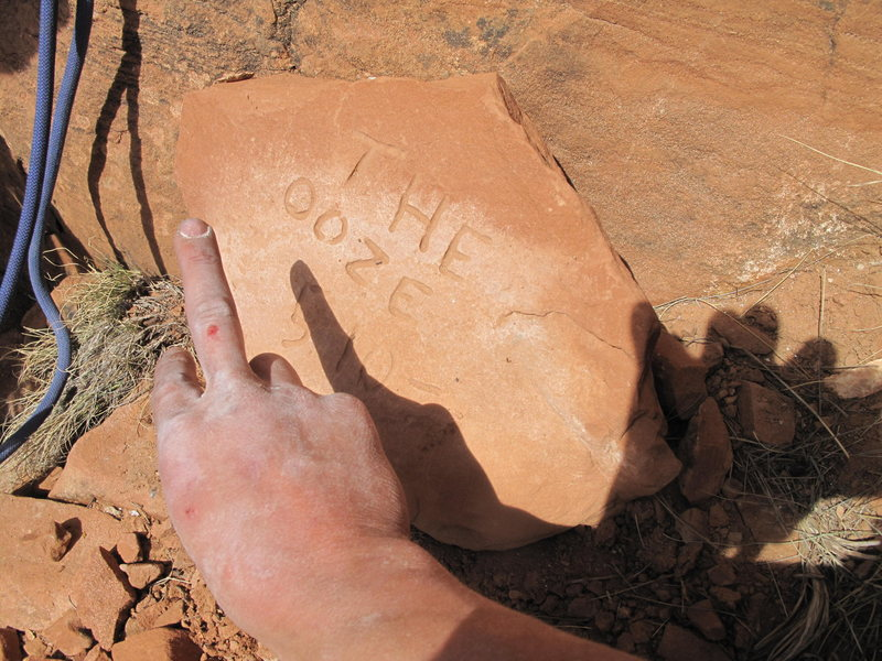 Rock Climbing Photo: plaque an finger with the Ooze