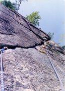 Rock Climbing Photo: Beautiful pitch on Retaliation. Mark Taylor up at ...