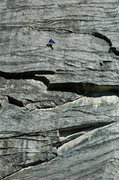 Rock Climbing Photo: Patrick Haley on pitch one of 'Fantasia'