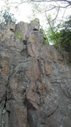 Rock Climbing Photo: All but the base of Stigmata. Route is on right of...