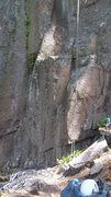 Rock Climbing Photo: Base of Stigmata Easy to recognise when there by i...
