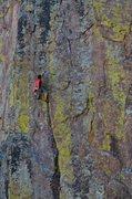 Rock Climbing Photo: Last rest before the crux.  Photo: M. Rangel
