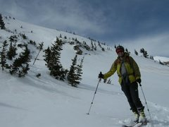 Rock Climbing Photo: Skiing Diamond Peak