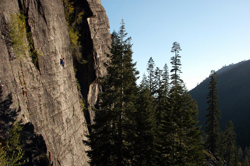 Rock Climbing Photo: Neal Archambault on 'Beer Can Direct', 5.11a - Lov...