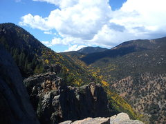 Rock Climbing Photo: Colorado fall colors from atop The Martyr.