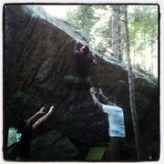 Rock Climbing Photo: Saying Jesus over and over in my head, did not fin...