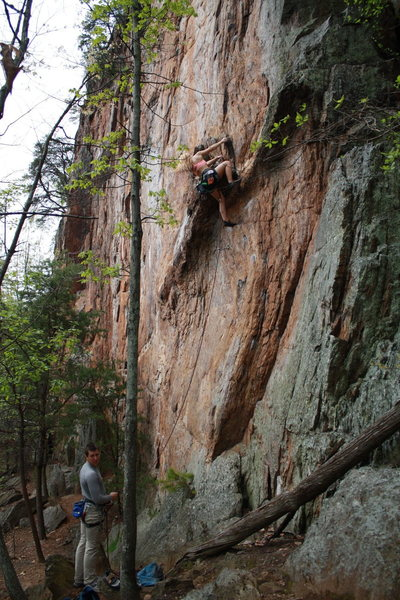 Rock Climbing Photo: Red Wall  Johanna Nevins leads  The Gimp (5.10d)  ...