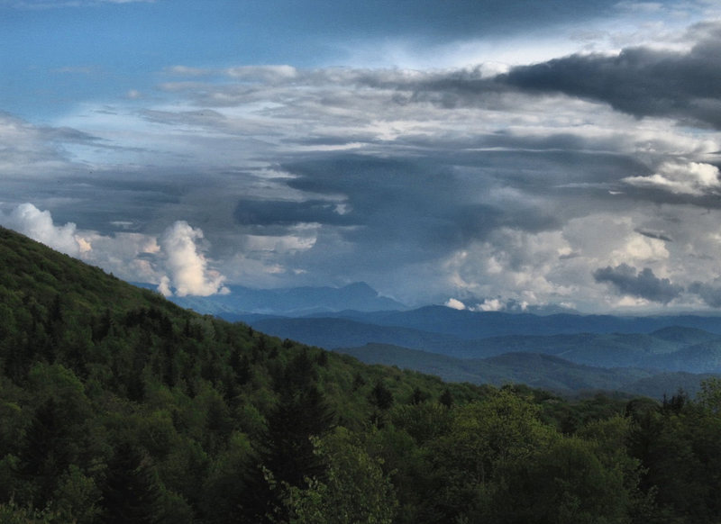 Some passing storm clouds on the hike up