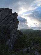 Rock Climbing Photo: Sunset wall