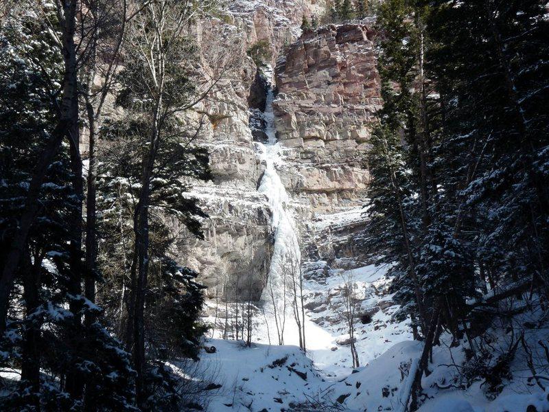 Rock Climbing Photo: Cascade Falls on Sunday, January 29, 2012.