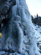 Rock Climbing Photo: Below the start of Cascade Falls - Kol getting rea...