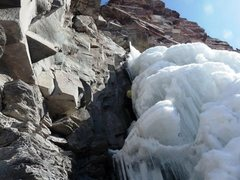 Rock Climbing Photo: Cascade Falls looking back up the first pitch afte...