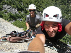 Rock Climbing Photo: At one of the hanging belays