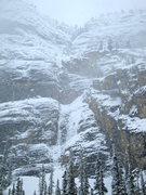 Rock Climbing Photo: Mixed Masters.  Top pillar in pencil thin conditio...