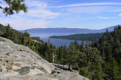 Rock Climbing Photo: Overlooking Emerald Bay, 90 ft. Wall, South Lake T...