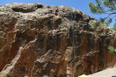 Rock Climbing Photo: Dave? Really? in red and Stuck in the Middle in bl...