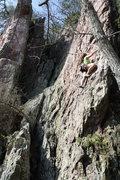 Rock Climbing Photo: Red Wall  Ashley Navarro leads Razor's Edge (Butte...