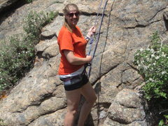 Rock Climbing Photo: First top rope outdoors!