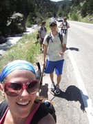 Rock Climbing Photo: The approach w/ Matty bro, Lulu, Warzone, & mounta...