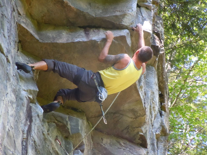 """Roof Direct"" crux sequence"