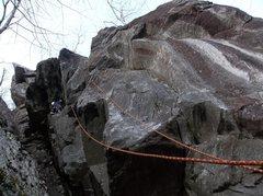 Rock Climbing Photo: Ryan on FA (Photo by Bradley White)