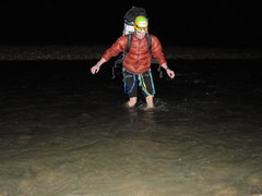 Rock Climbing Photo: november!!! 4am that river ain't pleasant