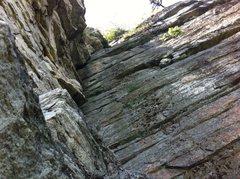 Rock Climbing Photo: Looking up P3