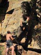 Rock Climbing Photo: Trying hard.