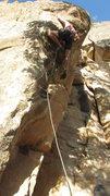 Rock Climbing Photo: Ben K. on the FA.