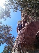 Rock Climbing Photo: Yurt Monkey. Green Slabs, Mt. Lemmon