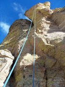 Rock Climbing Photo: party pooters, swim fin, mt. lemmon.