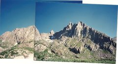 Rock Climbing Photo: Sunlight Basin w/ left foto added to note moderate...