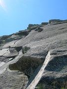 Rock Climbing Photo: Somewhere near the layback crux [photo: Paul Dale]