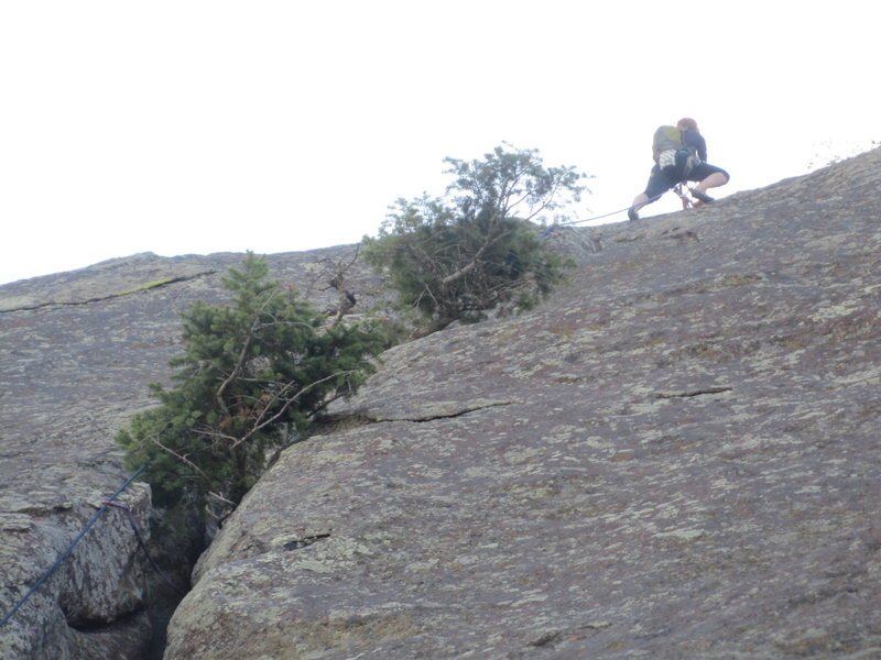 Rock Climbing Photo: The top of the 3rd section.  It looks improbable t...