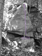 Rock Climbing Photo: The better of the 2 routes on this outcrop.