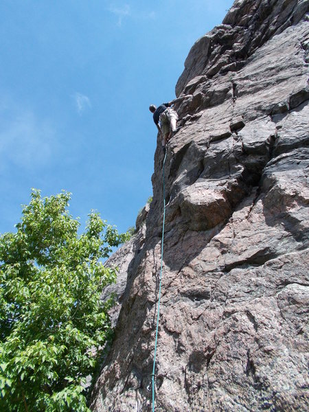 Rock Climbing Photo: Above the second bolt, fun route.