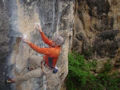 Rock Climbing Photo: Pabst Blue Ribbon, 5.13b