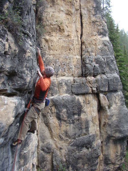Small holds. Big reaches. Big Rides! <br> <br> Pabst Blue Ribbon, 5.13b.<br> <br> The Danks has an area known as the Booze Wall which hosts routes bred to make you stagger. <br> <br> Spearish Canyon.