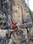 Rock Climbing Photo: Lee makes this look easy.  Pabst Blue Ribbon. Booz...