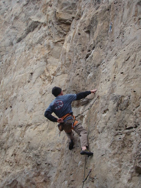 Rock Climbing Photo: Catch a good rest when you can, this route might j...